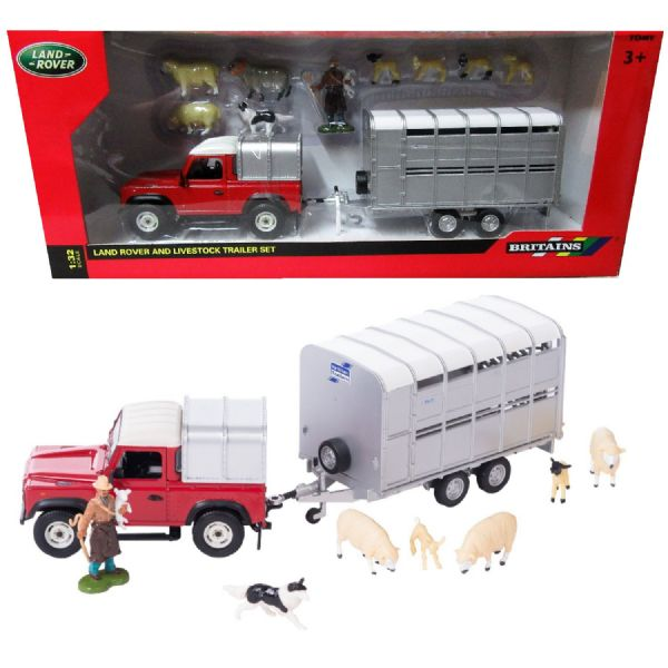 Tomy Britains Land Rover Sheep Farmer Play Set Toy 1:32 Scale